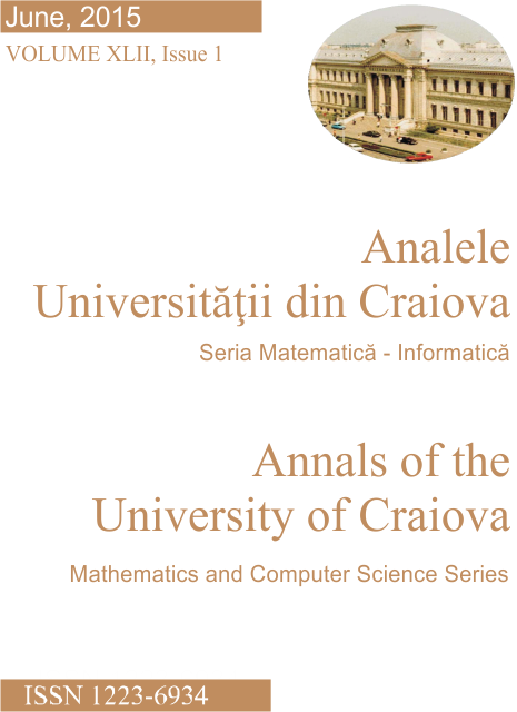 Annals of the University of Craiova - Mathematics and Computer Science Series